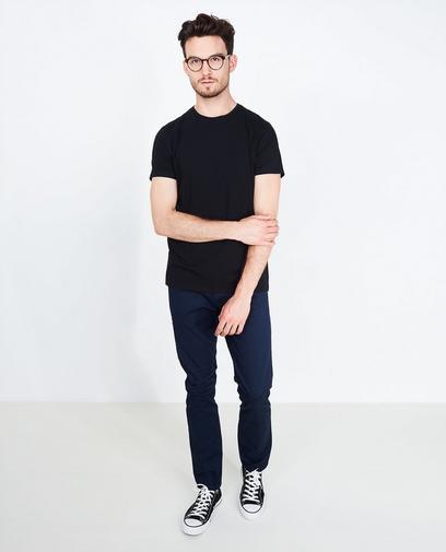 Zwart slim fit T-shirt